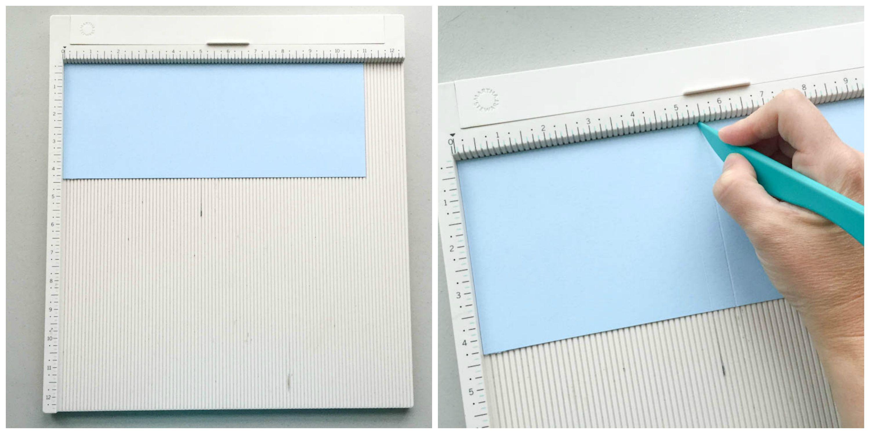 tips for scoring cardstock - use a scoring board