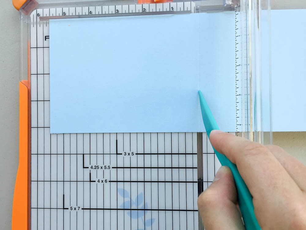 tips for scoring cardstock - use a paper trimmer