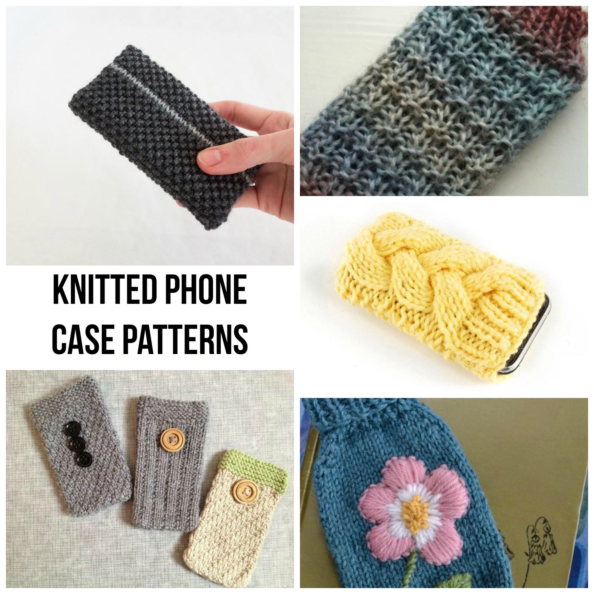 Knitted Phone Case Patterns