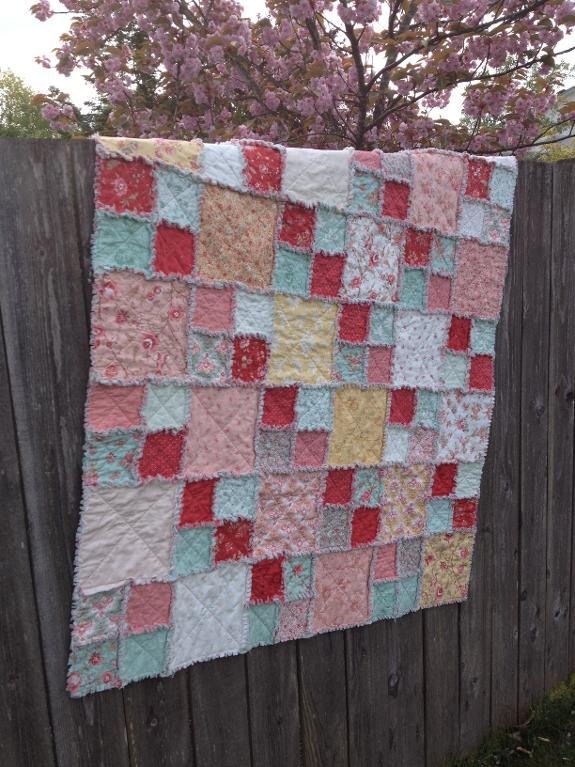 Layer Cake Rag Quilt FREE Pattern