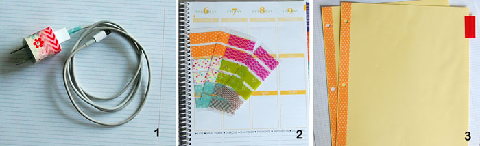 Additional uses - identify charger plugs/cables, planner labels, decorate notebook dividers