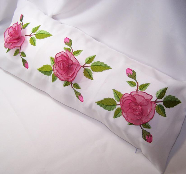 Rose Border Pillow