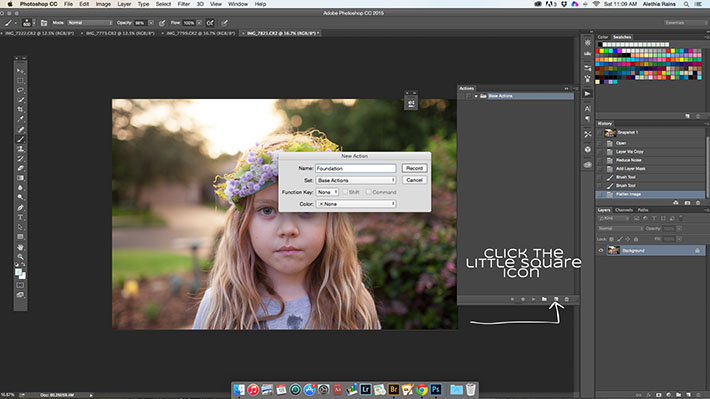 How to make a new action in Photoshop
