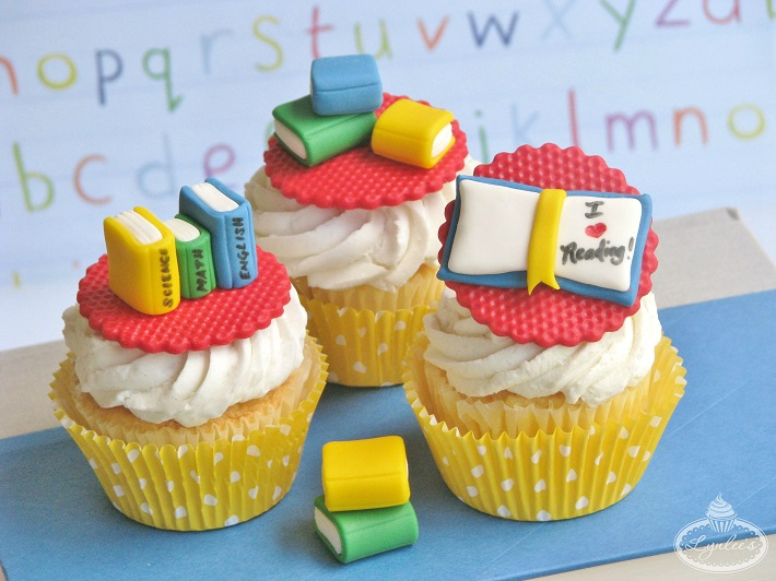 School Books Cupcakes
