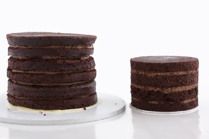 Fill and stack cakes