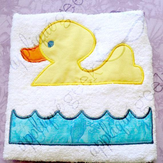 Split Rubber Ducky Applique Embroidery