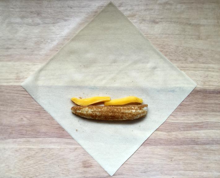 Banana and jackfruit on lumpia wrapper