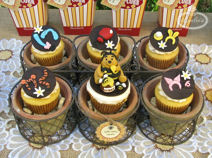 Winnie the Pooh fondant cupcake topper collection