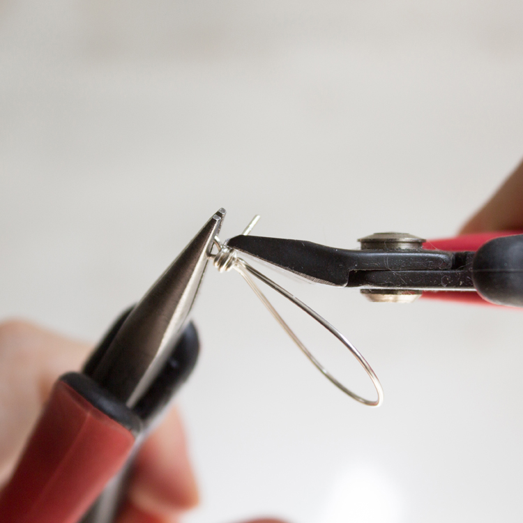 Trim off the excess portion of the wire