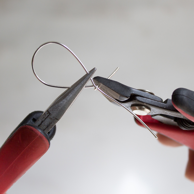 Trim off the unused portion of wire.