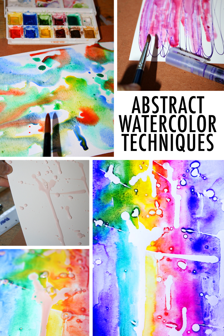 Abstract watercolor techniques