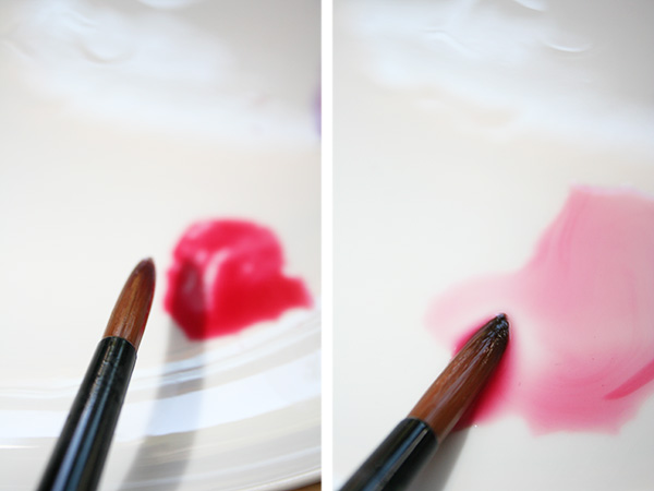 Making Pink with Red Watercolors