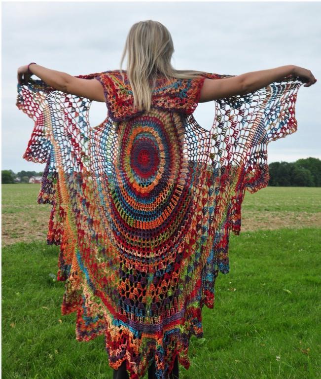 Boho Crochet Openwork Vest