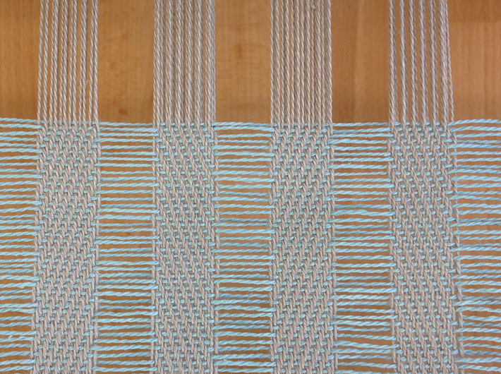 cram and space on the loom