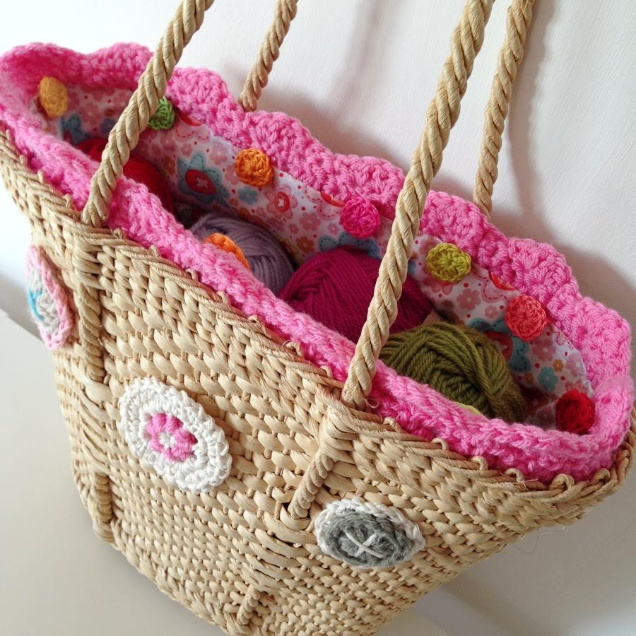 Crochet Button Bag