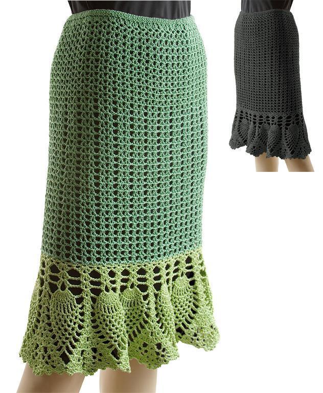 Crochet Pineapple Skirt