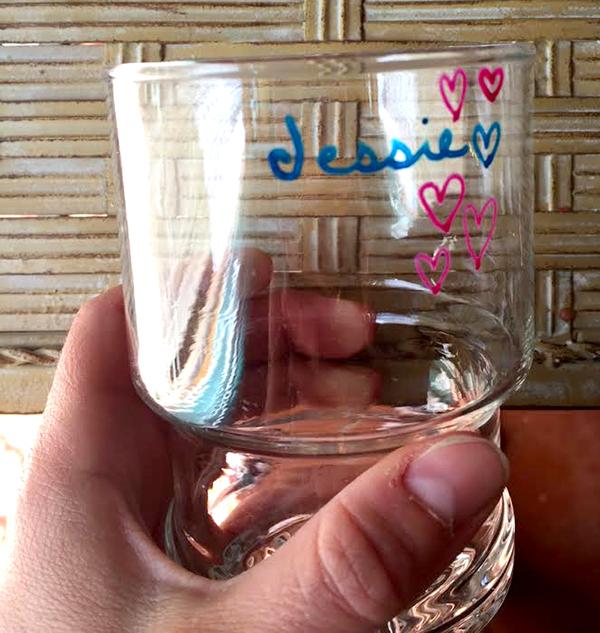 Paint pen art on a glass