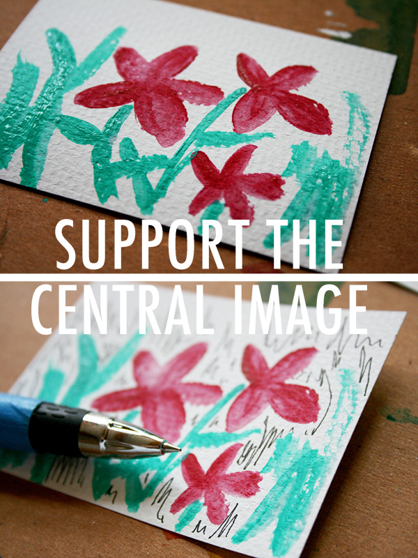 Support an Acrylic Image with Pen and Ink