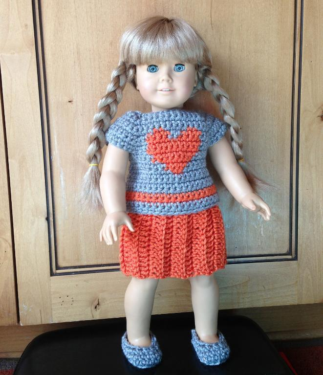 Heart T and Skirt Doll Crochet Pattern