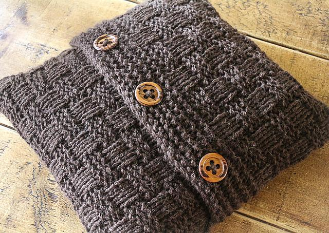 Super Chunky Basketweave Cushion Cover Knitting Pattern
