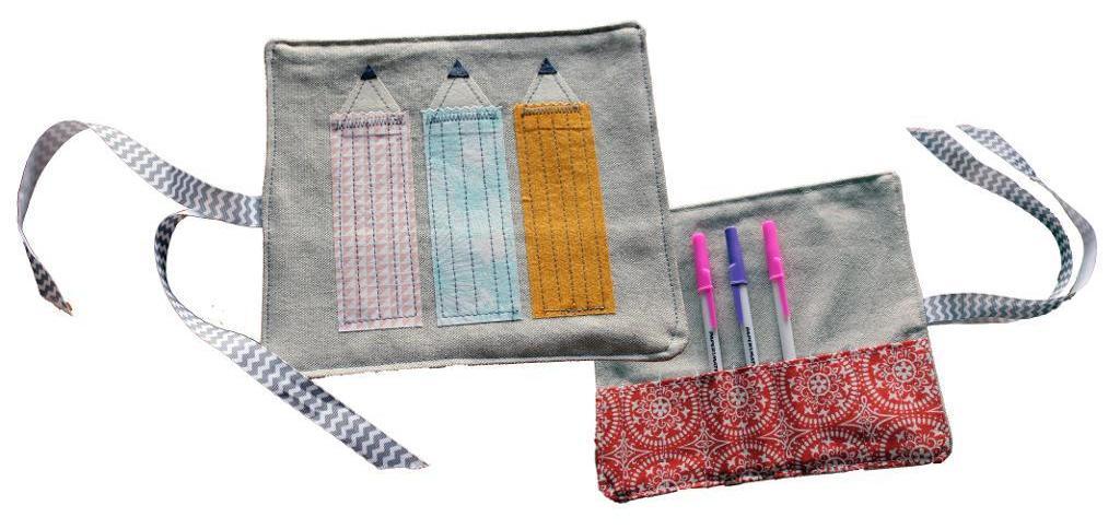 Pencil Wrap with Applique pattern