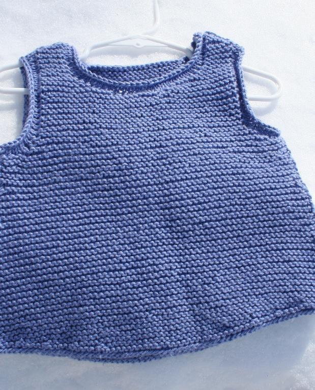 Norah Sleeveless Garter Top Knitting Pattern