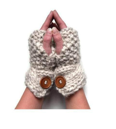 Super Chunky Gloves Knitting Pattern