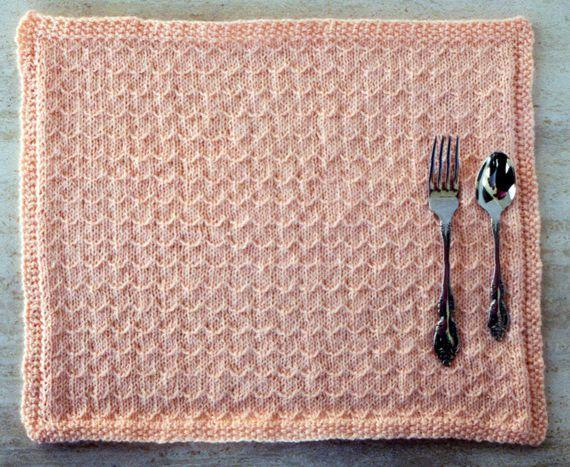 Spring Breeze Placemat Knitting Pattern