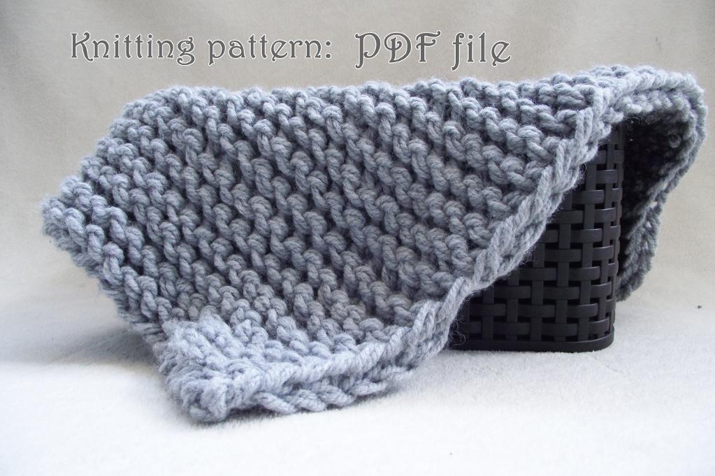Bulky Baby Blanket Knitting Pattern