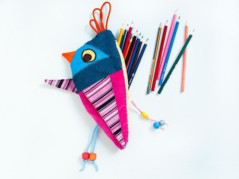 Pencil Case Birdy Back To School pattern