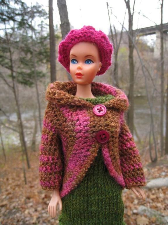 Barbie Crochet Circle Jacket FREE Pattern