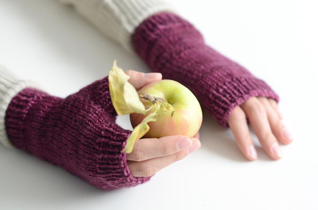 Bookish Fingerless Mitts Knitting Pattern