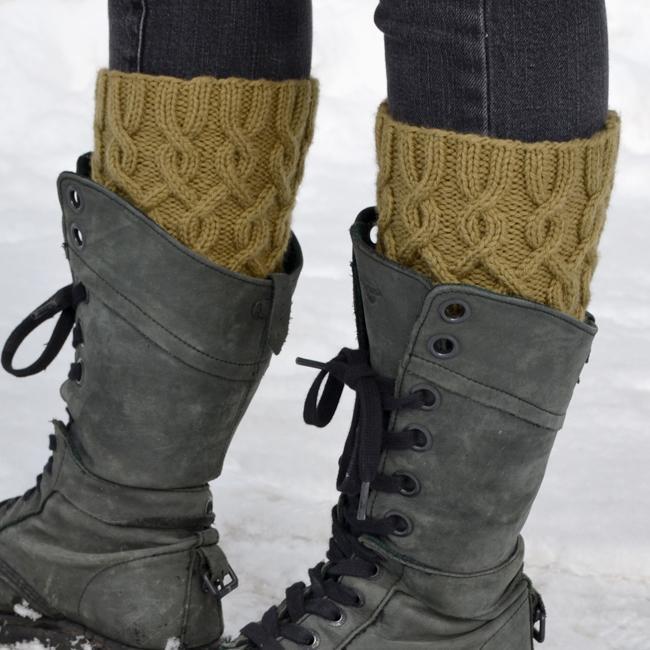 Entangled Boot Cuff Knitting Pattern