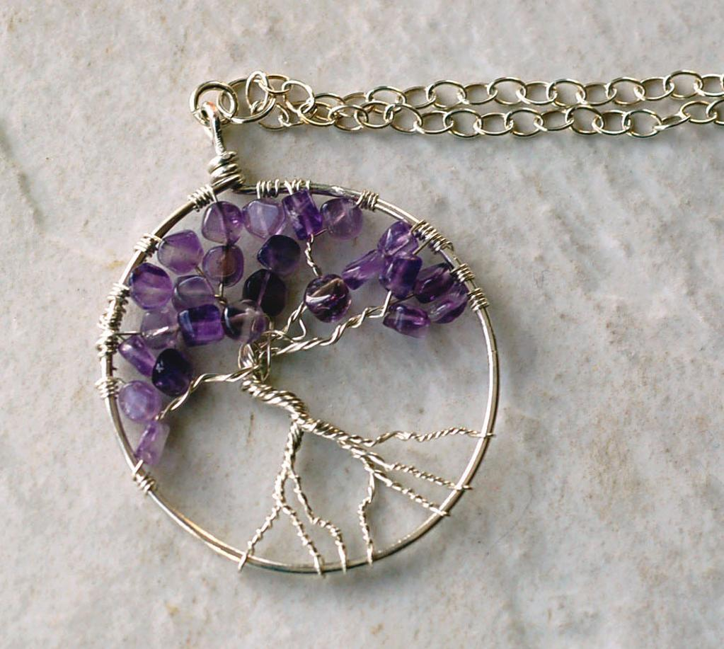 Wire Wrapped Tree of Life necklace pattern by Bluprint user Love Larisa