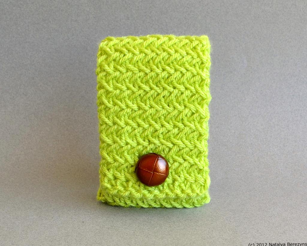 Phone Case, Neck Bag, Phone Cover Knitting Pattern