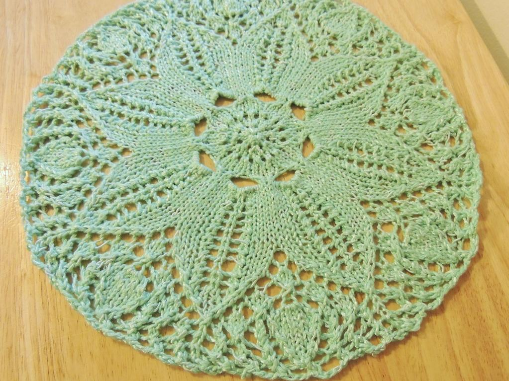 Floral Doily Placemat Knitting Pattern