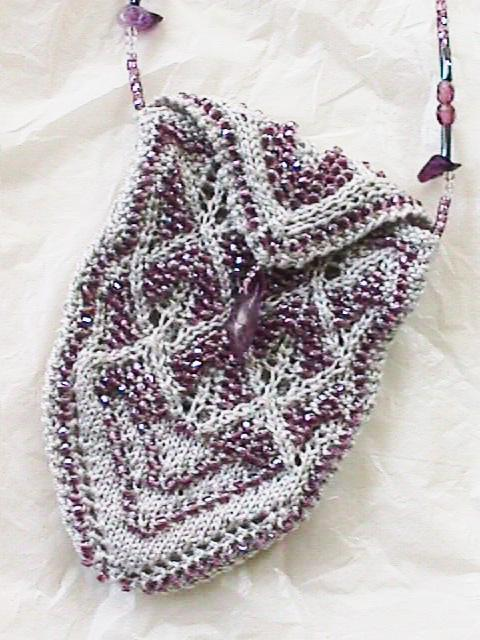 Lorna's Light Necklace Purse Knitting Pattern