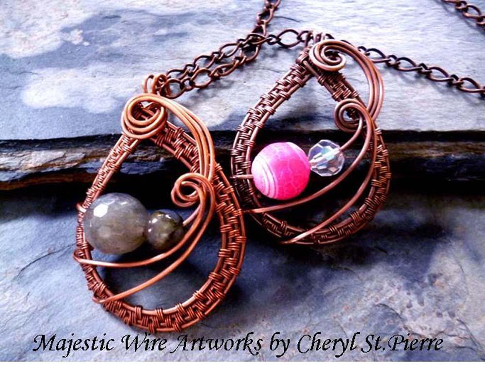 Weave Drop Pendant Jewelry Pattern