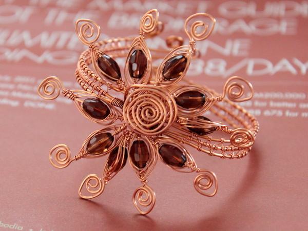 Sunburst Bangle Wire Jewelry Pattern