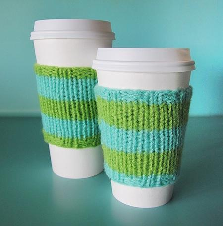 Magic Loop Coffee Cozy Knitting Pattern