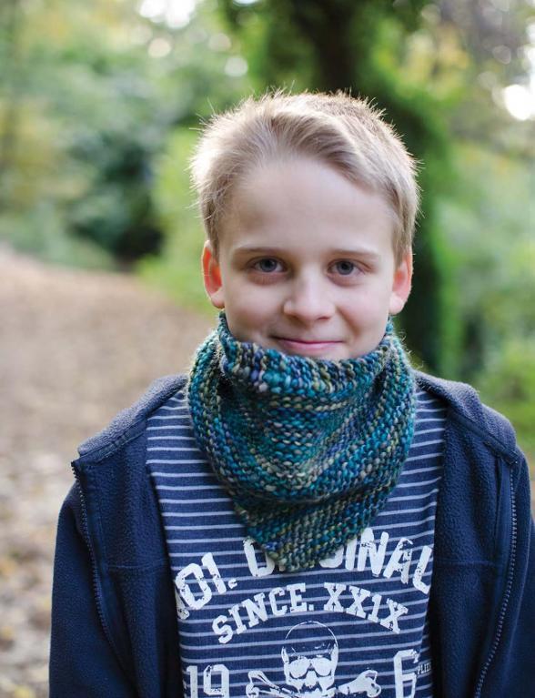 Mallard Garter Cowl Knitting Pattern