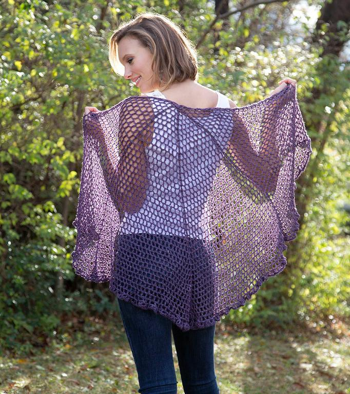 Refracted Lace Shawl FREE Crochet Pattern