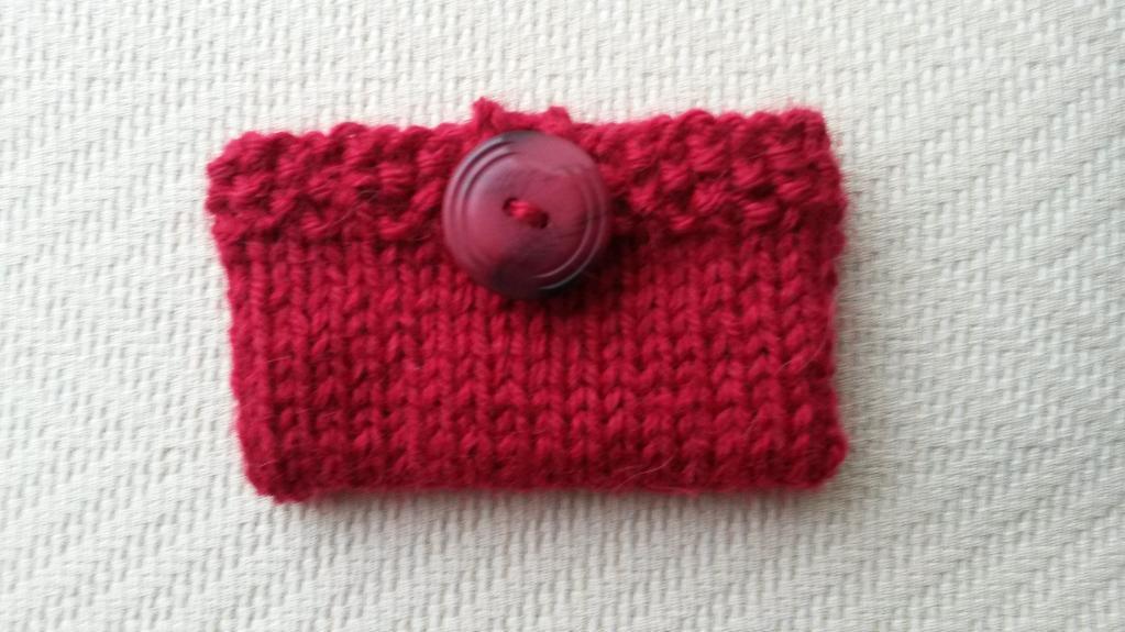 Gift Card Holder FREE Knitting Pattern