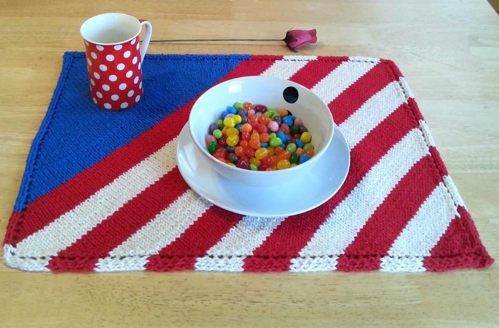 Patriotic Placemat FREE Knitting Pattern