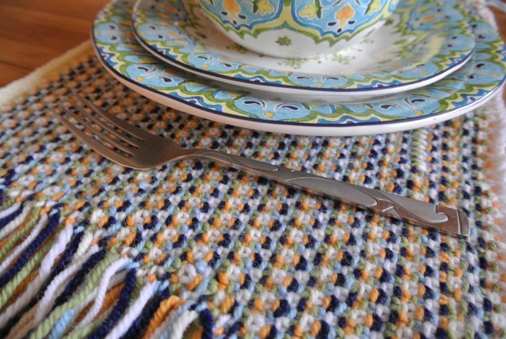 Knit Linen Stitch Placemat Knitting Pattern