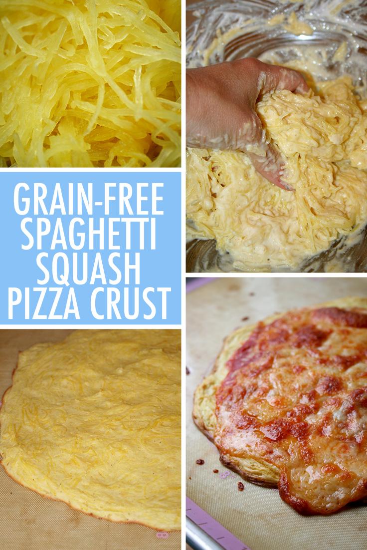 Grain-free spaghetti squash pizza crust
