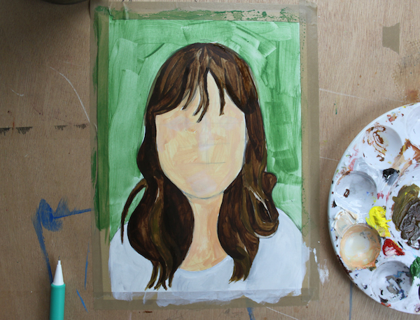 Adding layers to hair painting