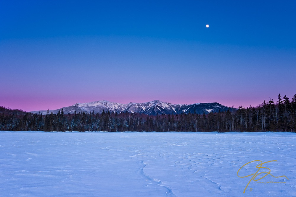 Winter Blue Hour, Lonesome Lake, New Hampshire