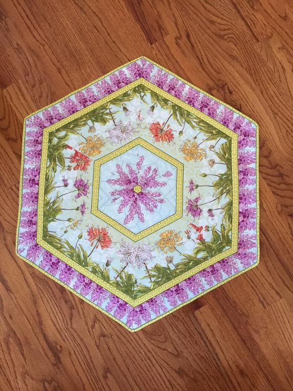table topper out of flower print