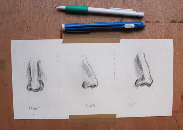 Learn how to draw noses step by step with this Craftsy tutorial